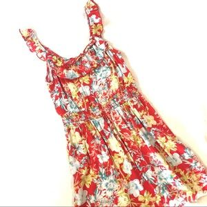 As U Wish Red Floral Dress Size Small